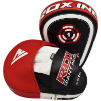 RDX T1 Curved Boxing Training Punch Mitts Black / Red
