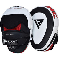 RDX T3 Curved Boxing Training Punch Mitts Black / White