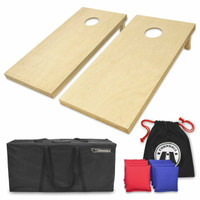 GoSports Regulation Size Solid Wood Premium Cornhole Set