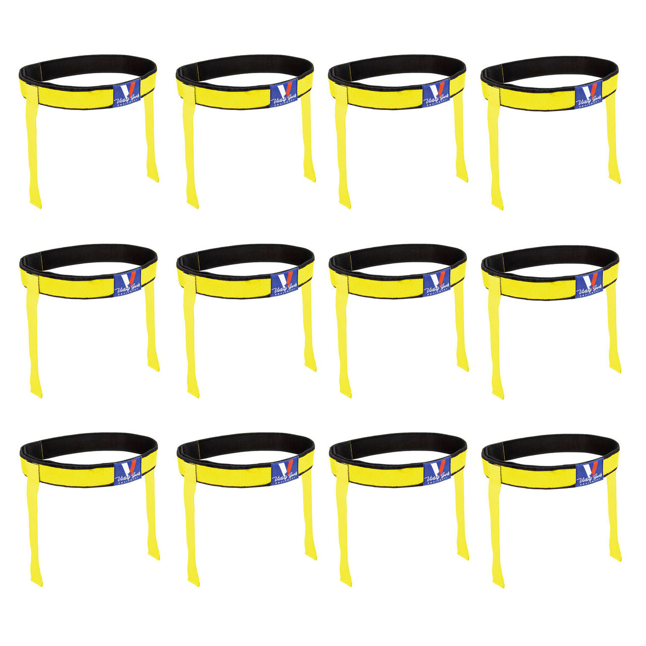 Victory Sports Flag Football Belt Set of 12 Yellow