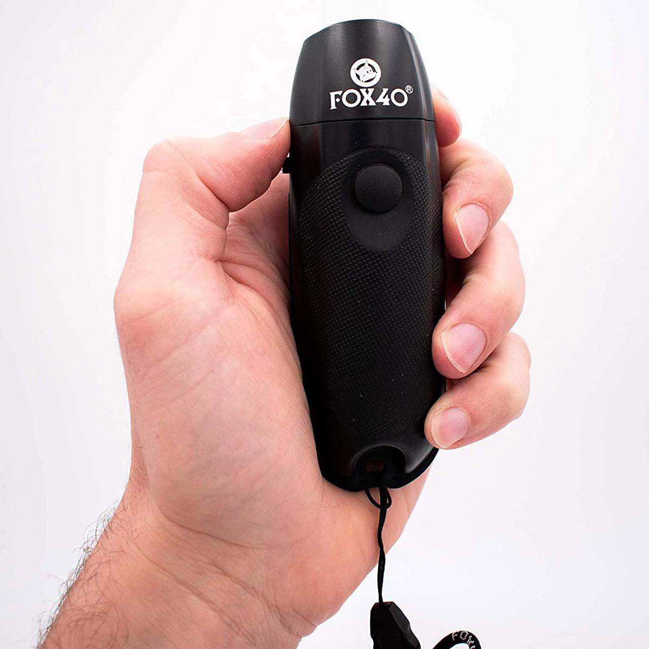 Fox 40 Three Tone Electronic Whistle - Black