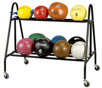 Champion Sports Two-Tier Medicine Ball Storage Cart