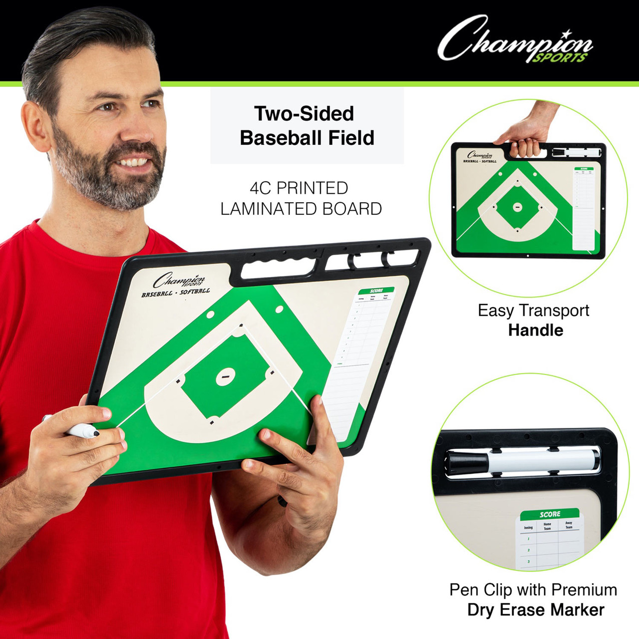 Champion Sports Extra Large Baseball Coaches Board (CBBAXL)