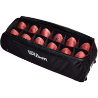 Wilson 12 Football Duffle Bag with Wheels (WTF918212)
