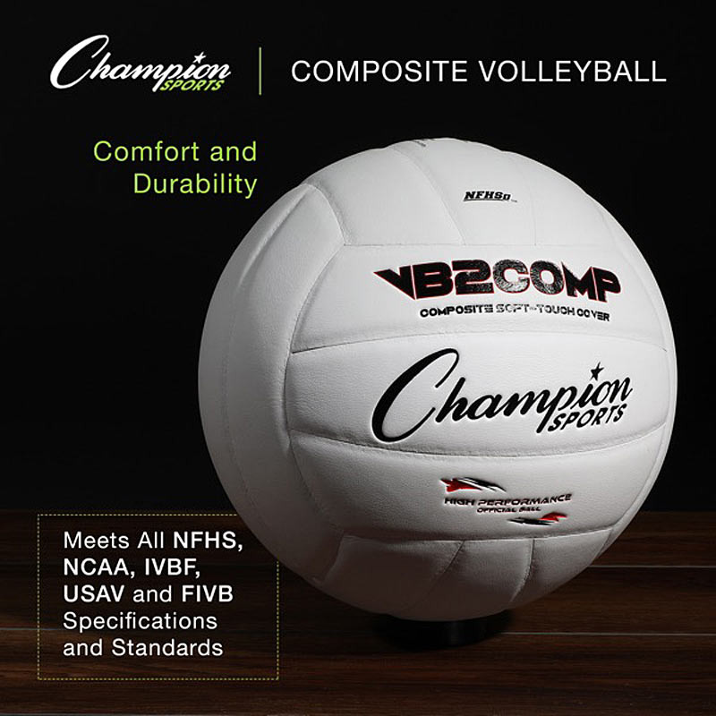 Champion Sports Official Pro Colored Composite Volleyball (VB2C-)