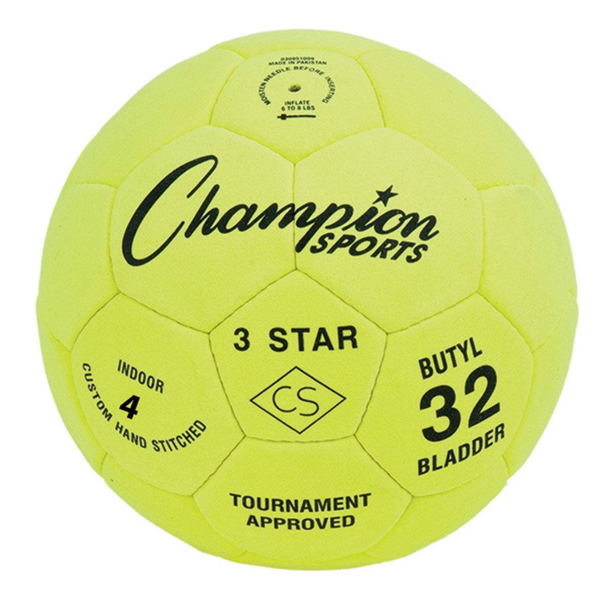 Champion Sports 3 Star Indoor Soccer Ball