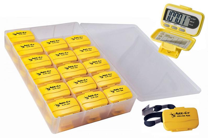 Ekho Worker Bee Fitness Pedometer 32 Class Pack