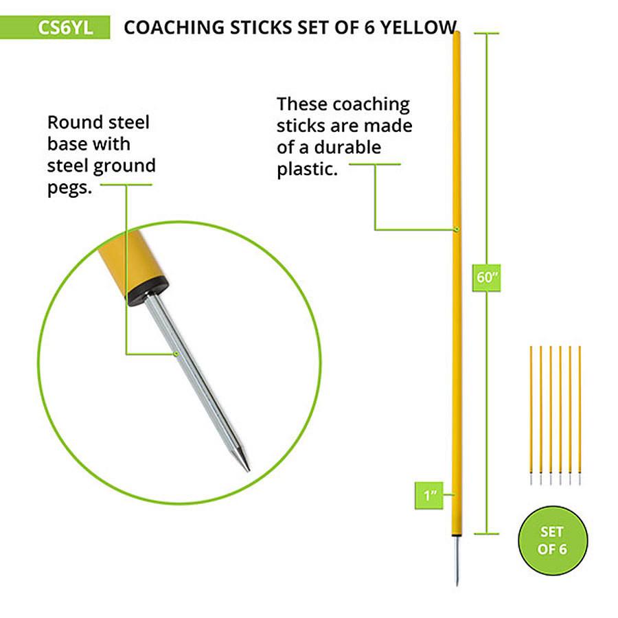 Champion Sports Coaching Sticks