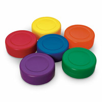 Cosom Rainbow Hockey Pucks