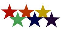 Poly Stars Spot Marker Set