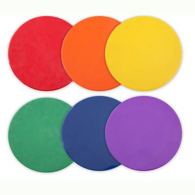 Champion Sports Rainbow Poly Spot Marker Set
