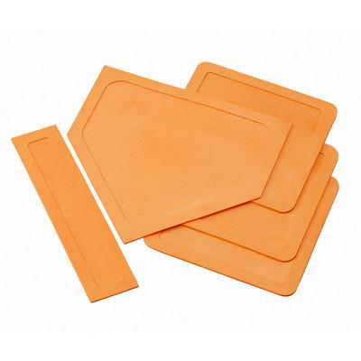 Champion Sports Throw Down Rubber Bases Orange