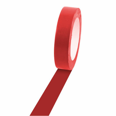 Champion Sports 1'' Colored Floor Tape red