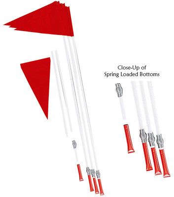 Champion Sports Spring Loaded Corner Flag Set