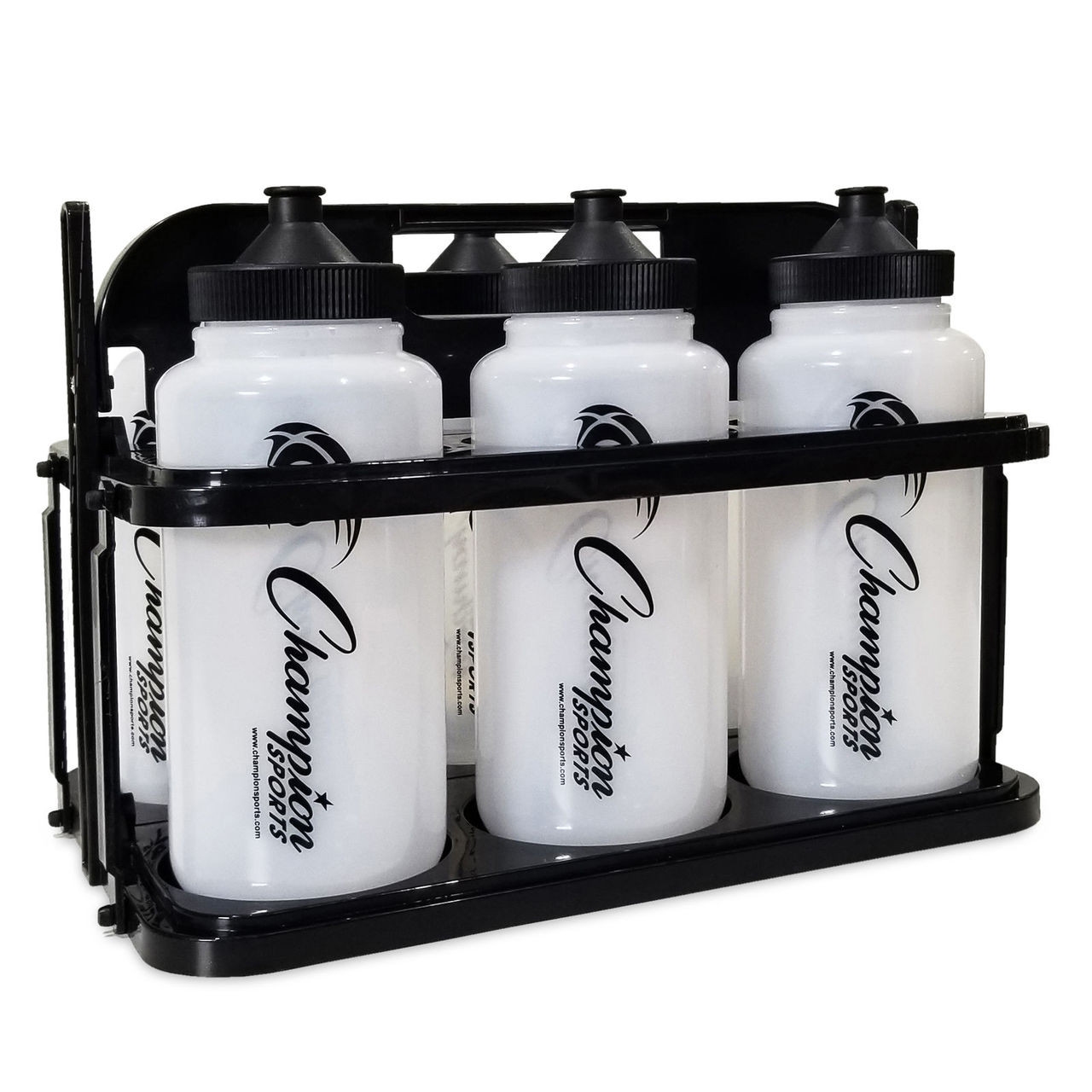 Champion Sports Collapsible Water Bottle Set W/ Carrier (CWBWXSET)