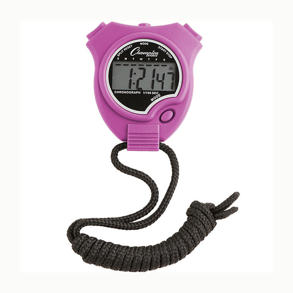 Champion Sports 910 Stopwatch and Timer Purple