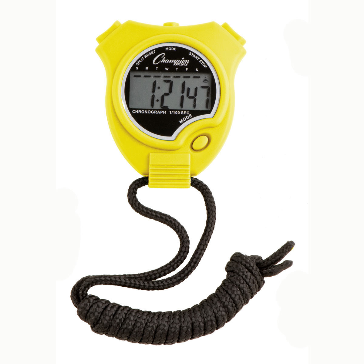 Champion Sports 910 Stopwatch and Timer Yellow