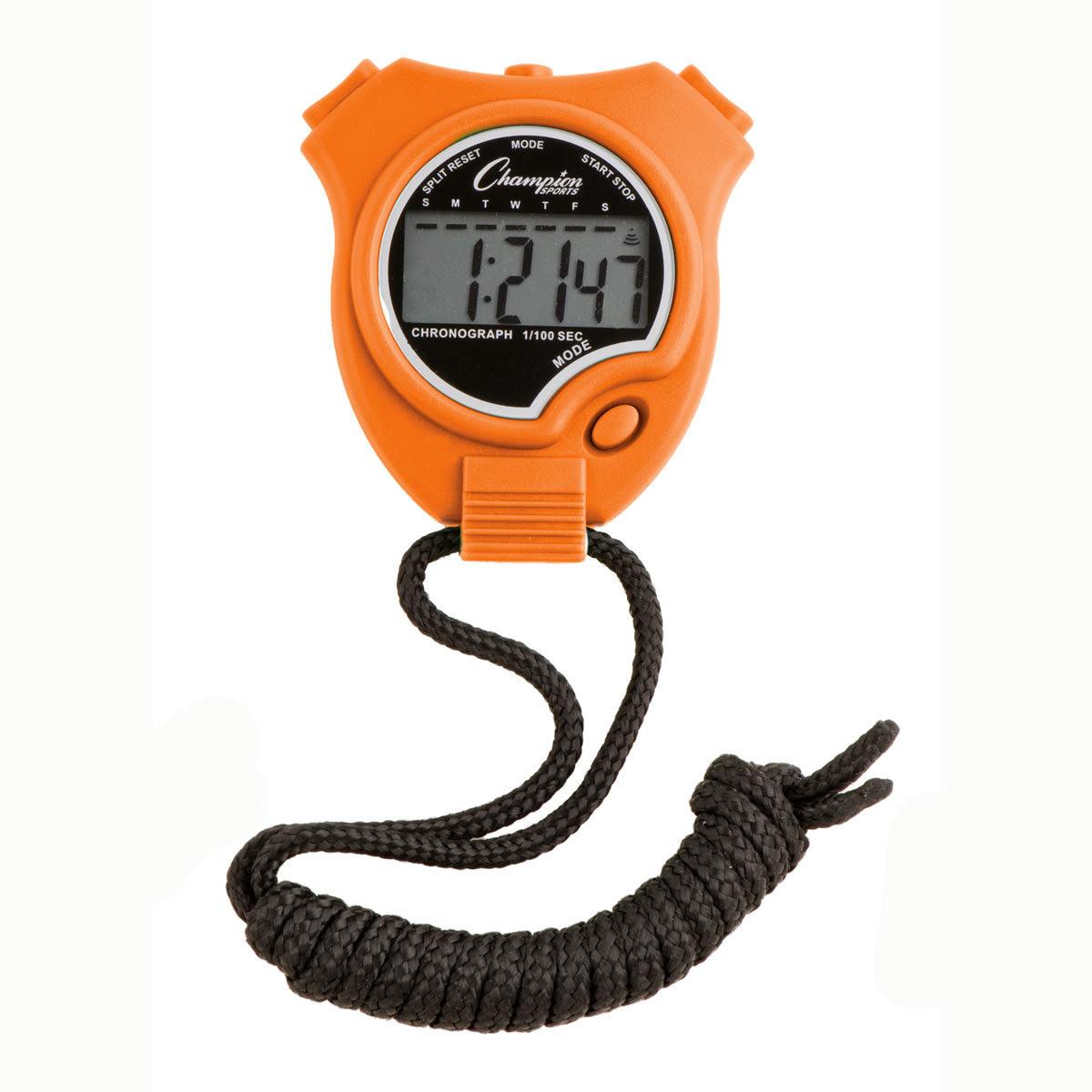 Champion Sports 910 Stopwatch and Timer Orange