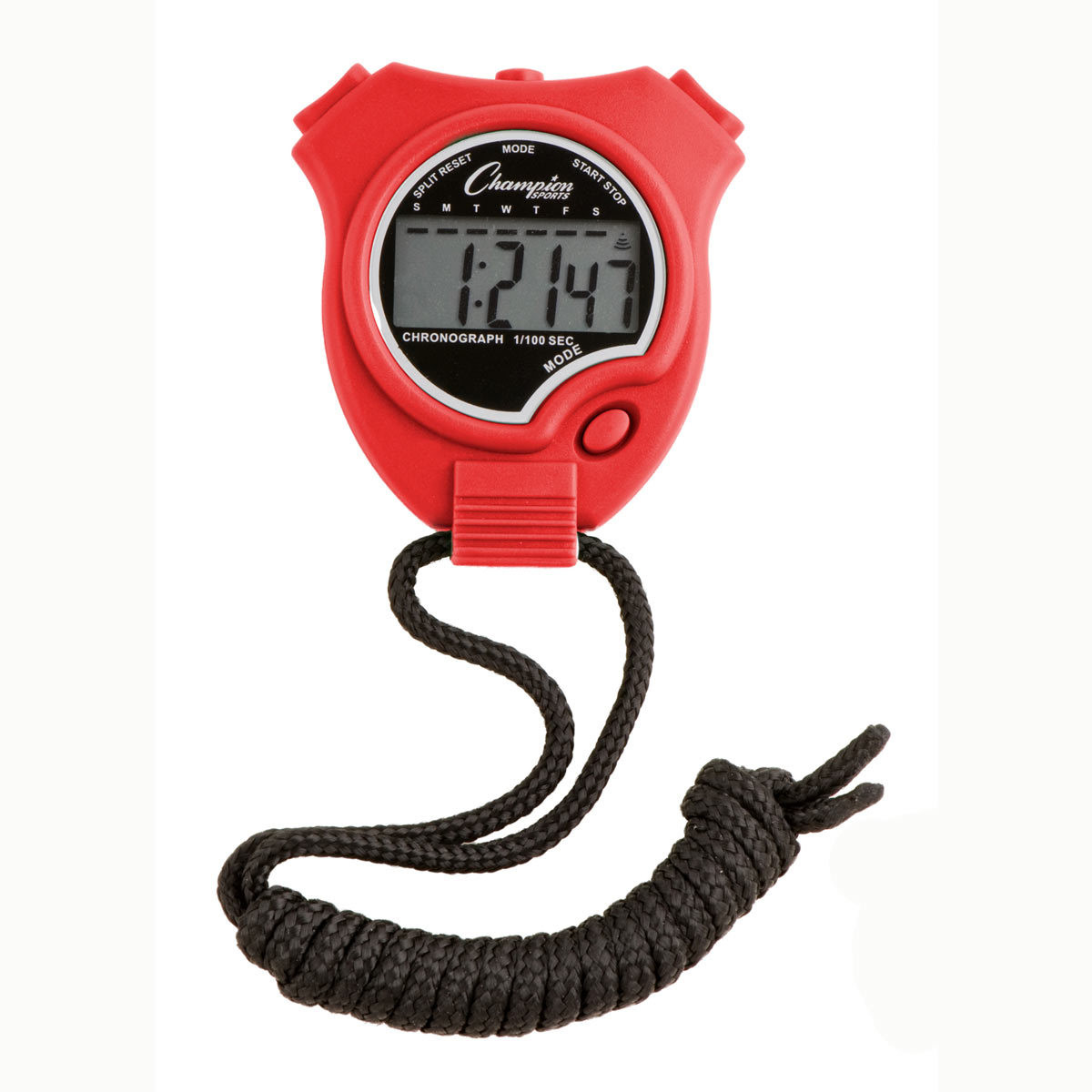 Champion Sports 910 Stopwatch and Timer Red