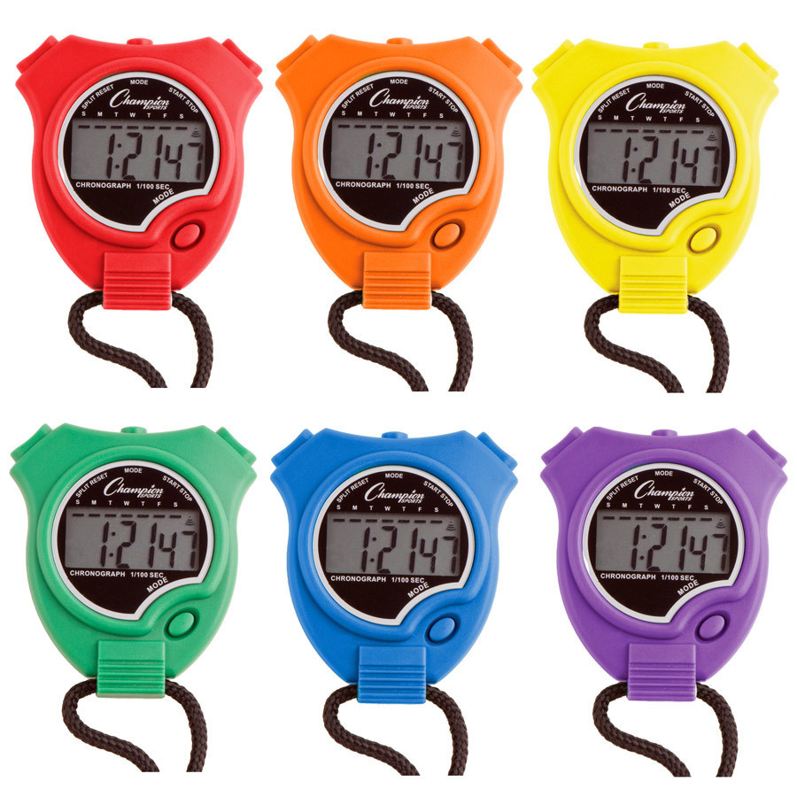 Champion Sports 910 Stopwatch Set of Six