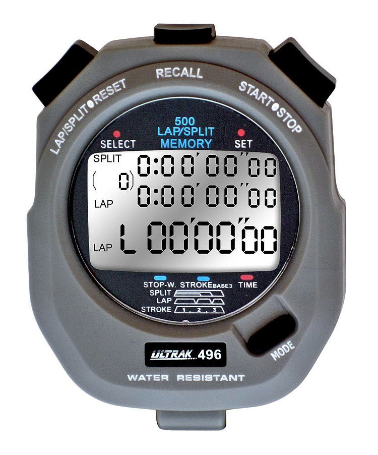Ultrak 496 - 500 Lap Memory Professional Stopwatch