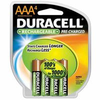 243-DX2400B4N | Duracell Pre-Charged Rechargeable Batteries