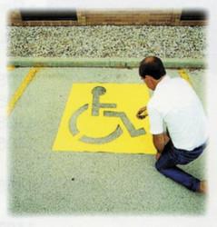 337-12438 | C.H. Hanson Handicap Symbol Stencils