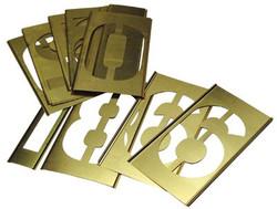 337-10162 | C.H. Hanson Brass Stencil Gothic Style Number Sets