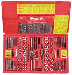 585-26377 | Irwin Hanson 117-pc Machine Screw / Fractional / Metric Tap & Hex Die and Drill Bit Deluxe Sets