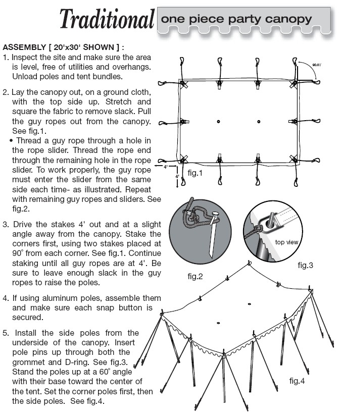 20x40 Pole Tent Setup Instructions