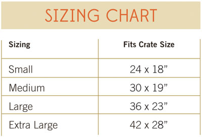 Jax and Bones Crate Cover Size Guide