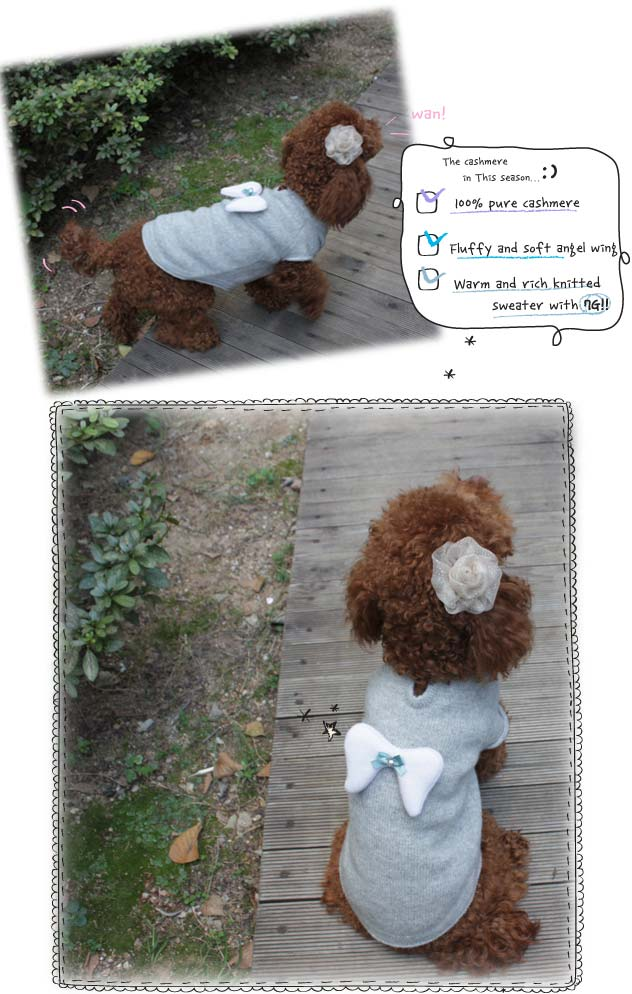 Louisdog Cashmere Angel Dog Sweater