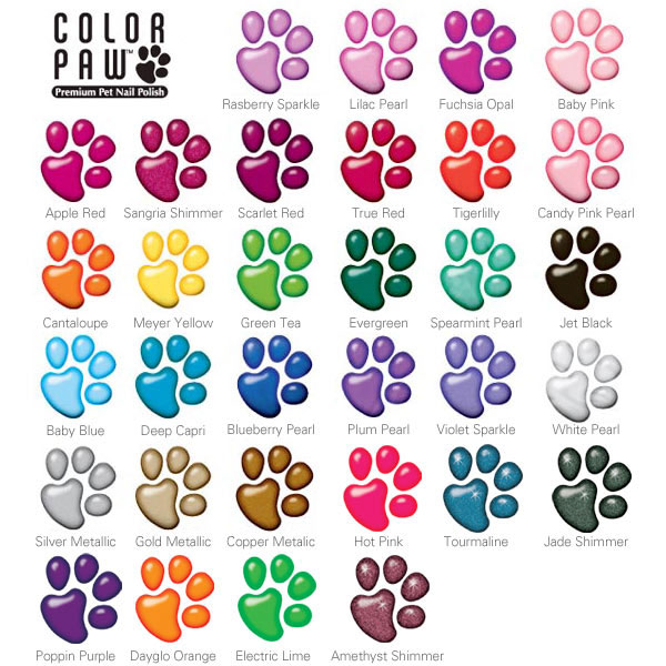 Paw Polish Color Options
