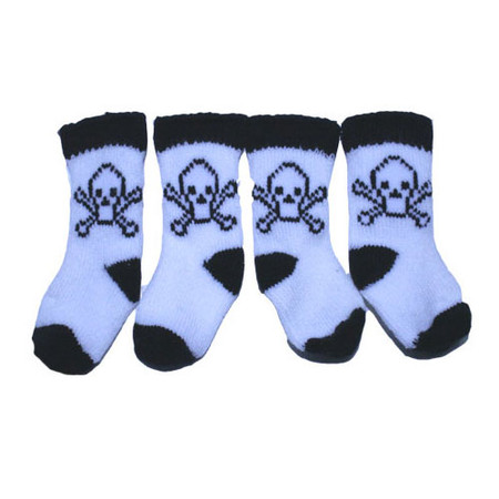 Skeleton Dog Socks
