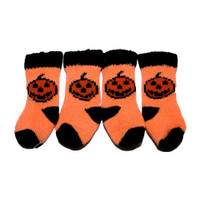 Pumpkin Dog Socks