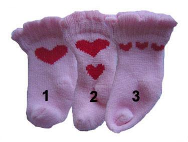 Pink Heart Dog Socks