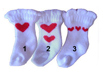 White Heart Dog Socks