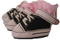 Black and Pink Dog Sneakers