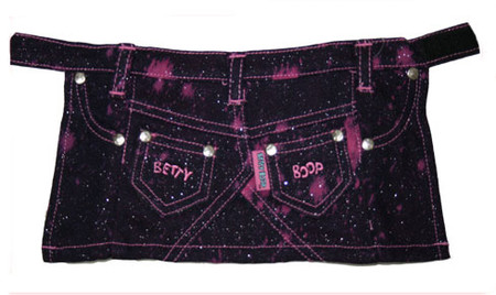 Betty Boop Pink Glitter Denim Skirt