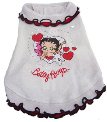 Betty Boop White Ruffle Dress