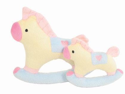 """""""Baby"""" Rocking Horse Dog Toy"""
