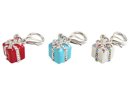 Gift Box D-Ring Dangler Charms