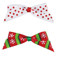 Candy Cane Holiday Bows