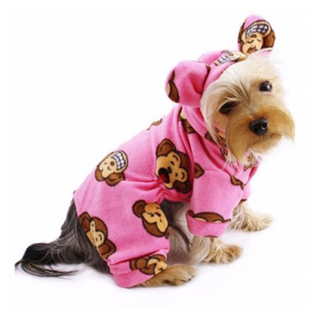 Silly Monkey Fleece Pajamas (Pink)