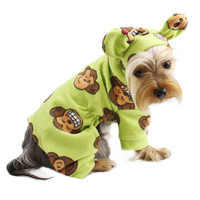 Silly Monkey Fleece Pajamas (Green)