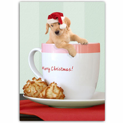 Golden Retriever Cup Holiday Card