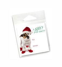 Jack Russell Holiday Gift Tags