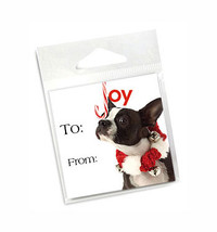 Boston Terrier Holiday Gift Tags