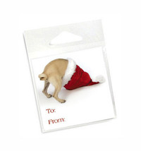 Pug Holiday Gift Tags
