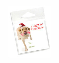 Yellow Lab Holiday Gift Tags